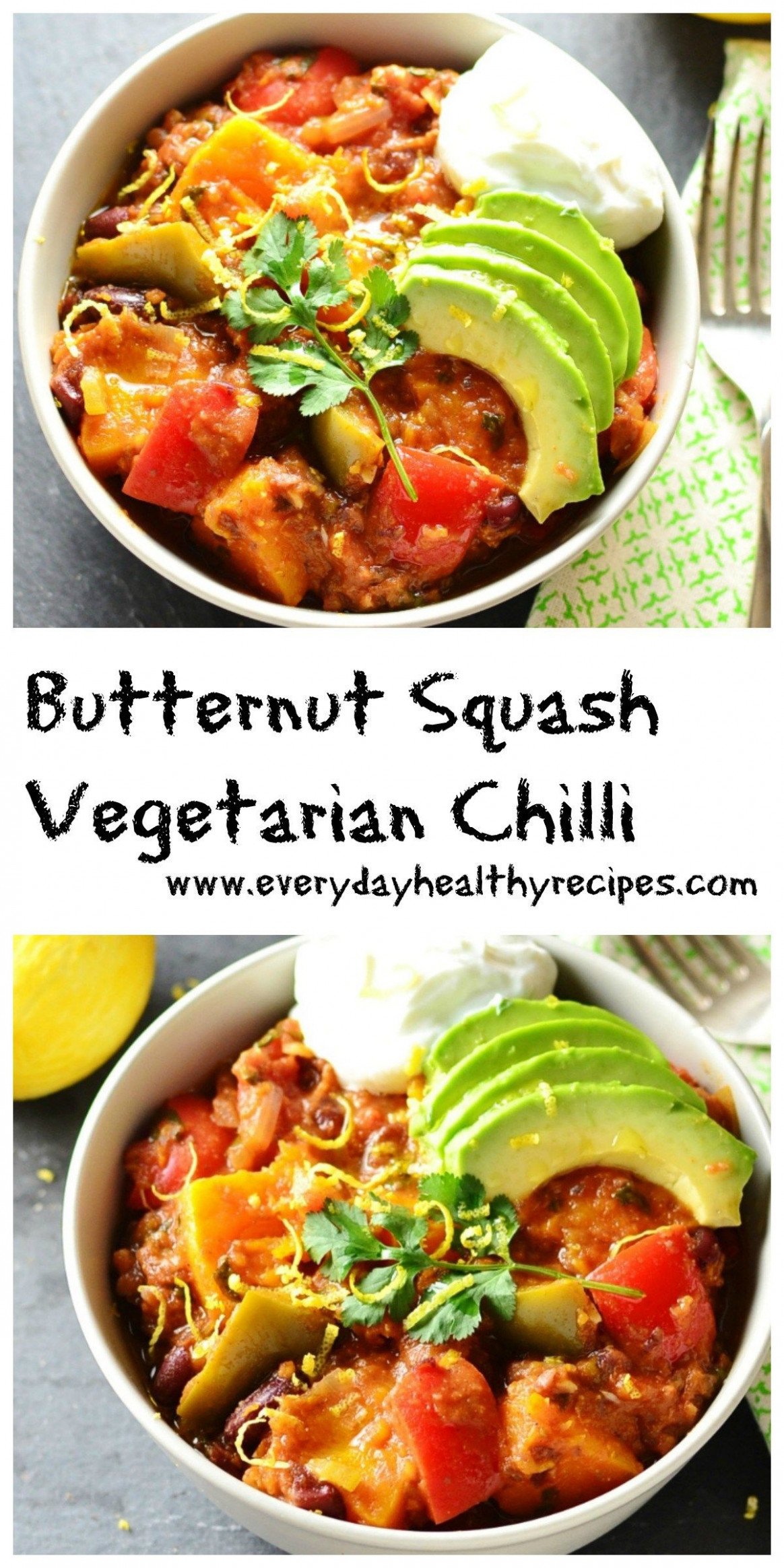 Butternut Squash Vegetarian Chilli | All low carb ..