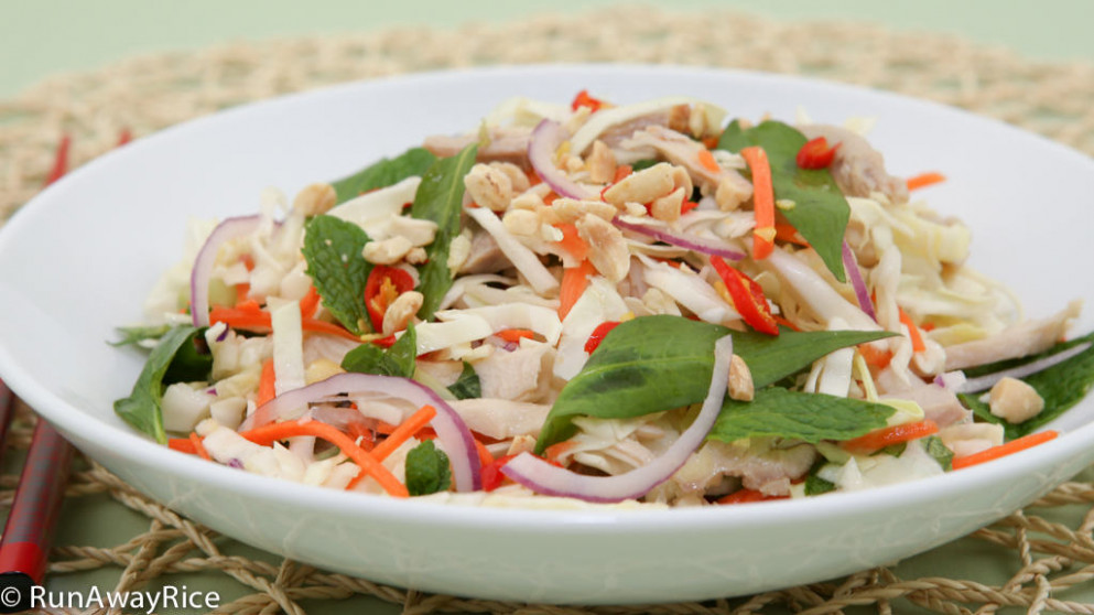 Cabbage Chicken Salad (Goi Ga Bap Cai) - Easy Recipe with ..