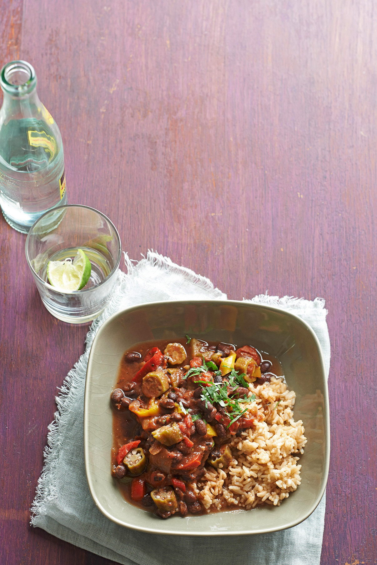 Cajun-Seasoned Vegetarian Gumbo - recipe vegetarian gumbo