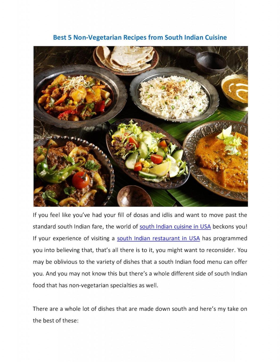 Calaméo - Best 13 Non Vegetarian Recipes From South Indian ..