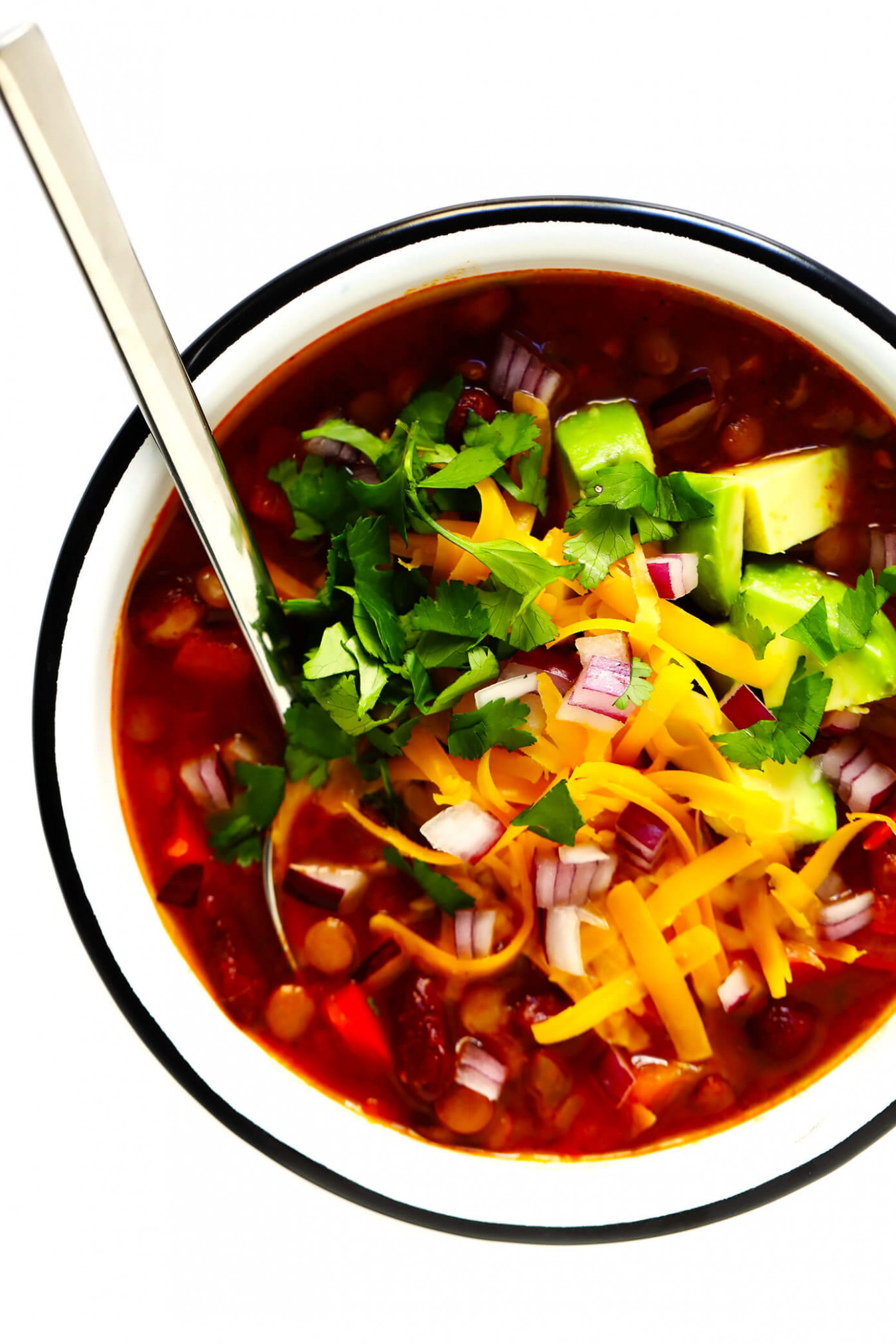 Can't-Believe-It's-Vegetarian Chili | Gimme Some Oven - recipes that can be made vegetarian