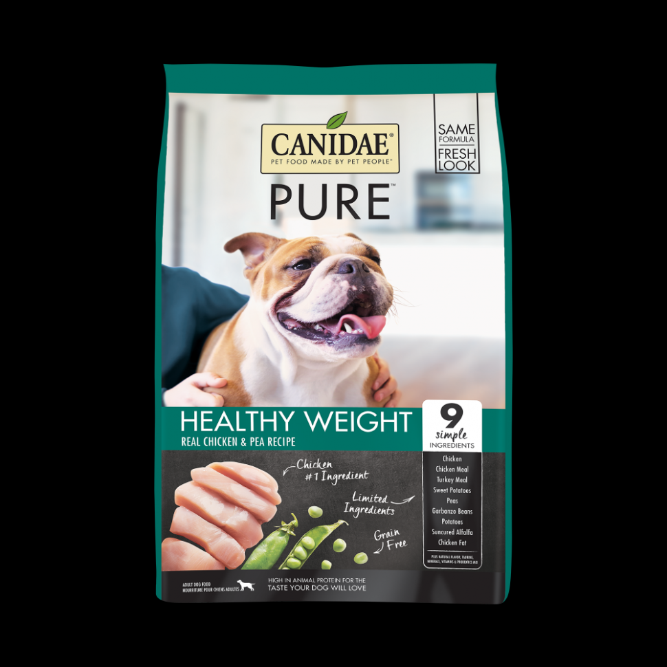 Canidae Grain Free PURE Healthy Weight Chicken & Pea Recipe Dry Dog Food - dog food recipes chicken