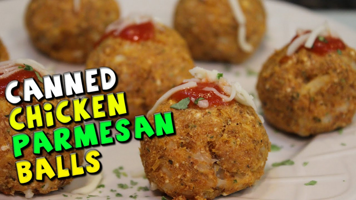Canned CHICKEN Parmesan Balls Recipe - recipes made with canned chicken