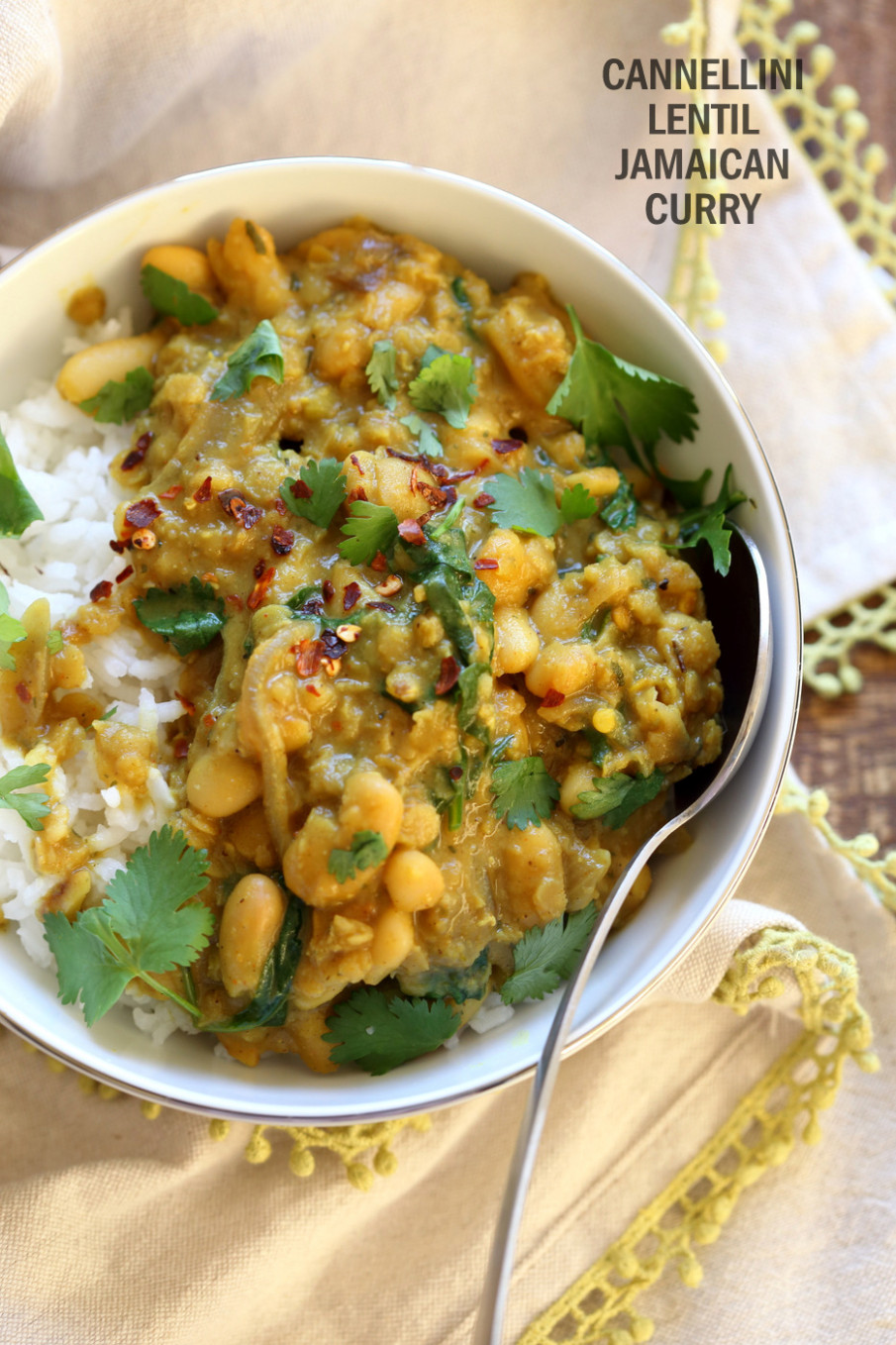 Cannellini and Lentil Jamaican Curry - jamaican vegetarian recipes