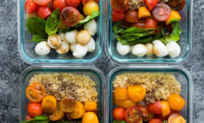 Caprese Chicken Salad Meal Prep Bowls – Lunch Recipes Chicken