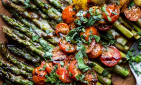 Caprese Roasted Asparagus – Vegetarian Recipes Asparagus