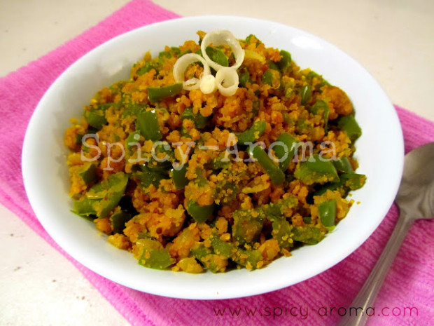 Capsicum Sabzi With Besan - Recipe With Step By Step ..