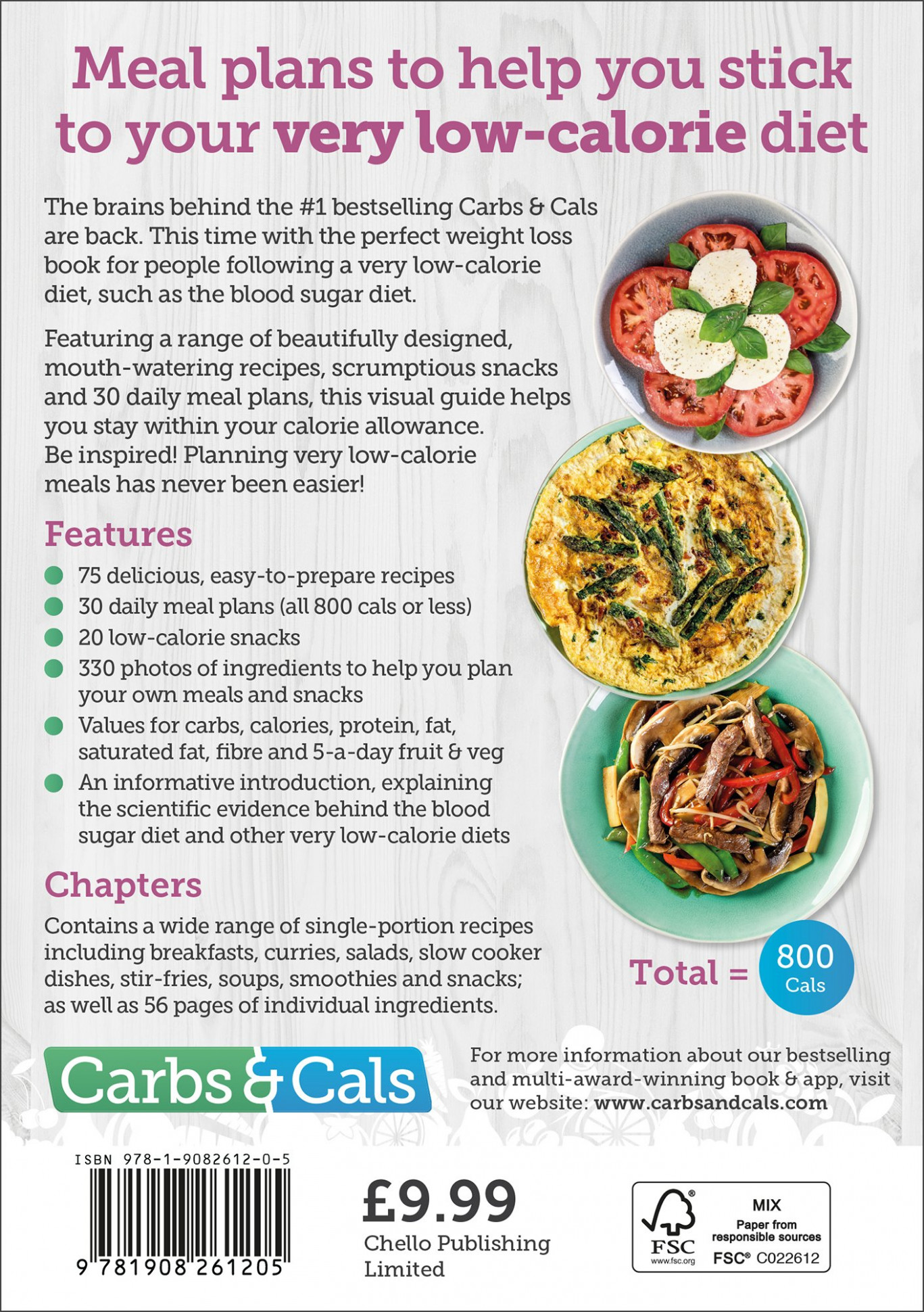 Carbs & Cals Very Low Calorie Recipes & Meal Plans: Lose ..