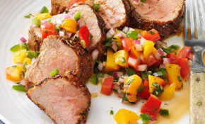 Caribbean Spiced Pork Tenderloin With Peach Salsa Recipe ..