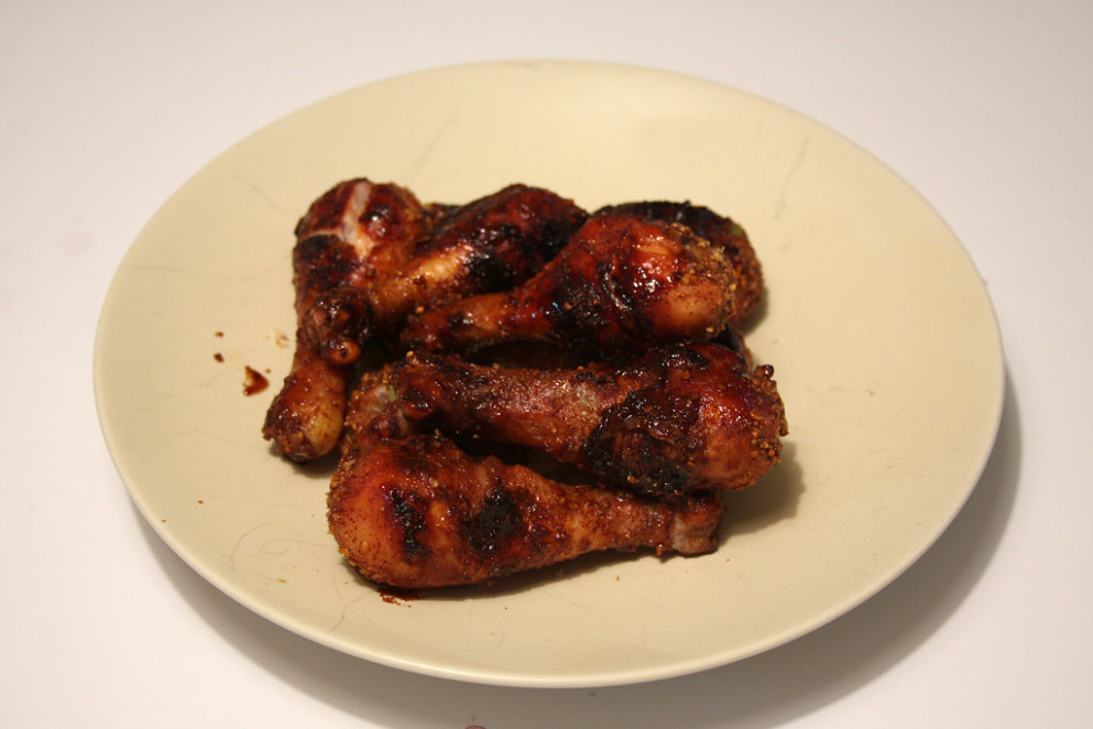 Caribbean-Style Chicken with Brown Sugar-Peanut Spice Rub Chicken legs - recipes made with chicken