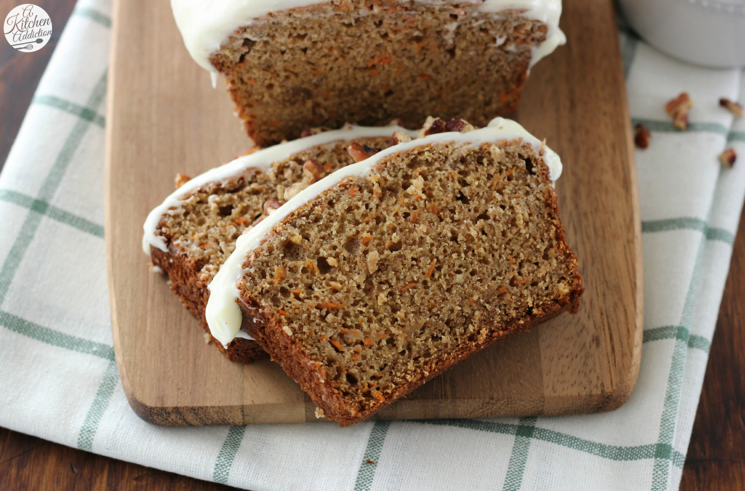 Carrot Cake Quick Bread with Cream Cheese Frosting - food recipes quick breads