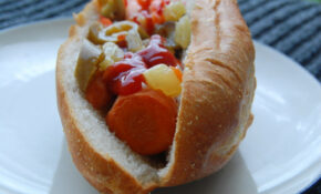 Carrot Hot Dog With Giardiniera – Recipe Vegetarian Hot Dog