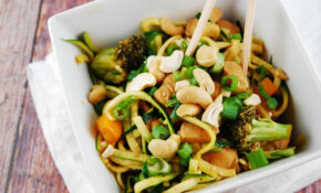 Cashew Chicken With Zucchini Noodles Recipe – 8 Points ..