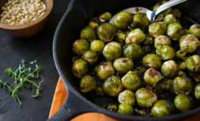 Cast Iron Brussel Sprouts With Pine Nuts – Recipes Vegan Healthy