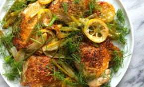 Cast Iron Skillet Chicken Thighs With Lemon And Fennel Recipe – Chicken Recipes Cast Iron Skillet