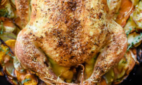 Cast Iron Skillet Whole Roasted Chicken With Potatoes – Recipes For Whole Chicken