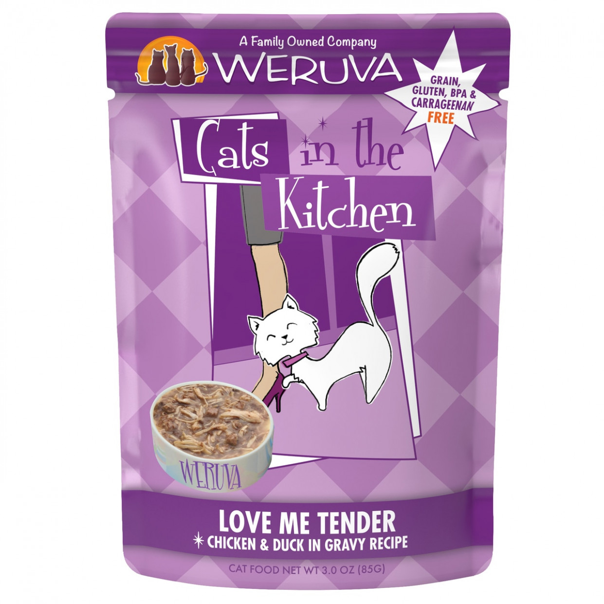 Cats In The Kitchen Love Me Tender Chicken & Duck In Gravy Recipe Cat Food  Pouch - Homemade Cat Food Recipes