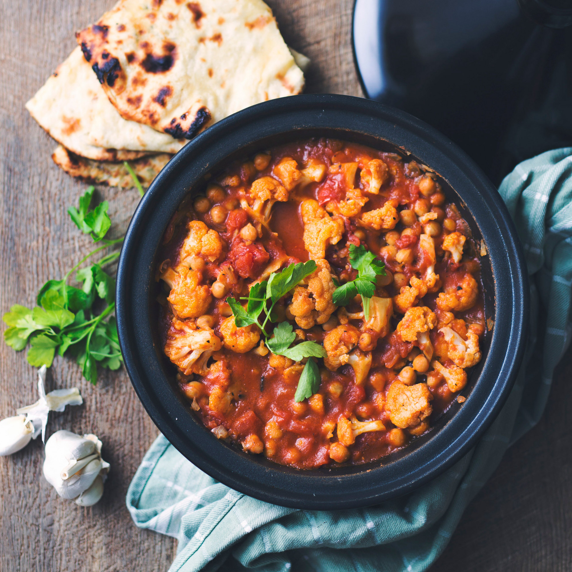 Cauliflower And Chickpea Tagine - Moroccan Recipes Vegetarian