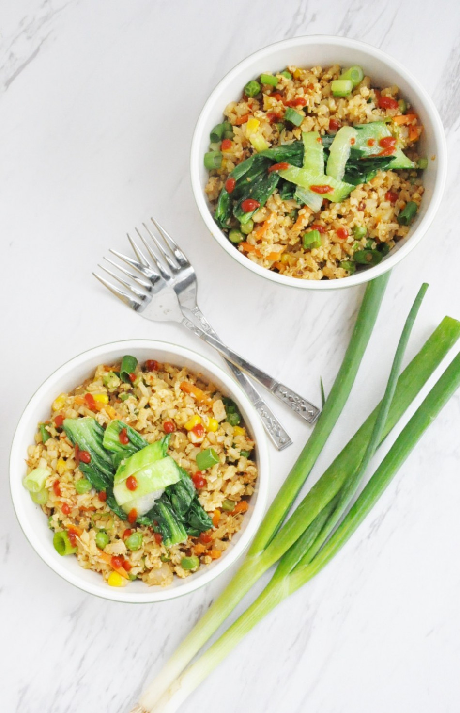 Cauliflower Fried Rice (healthy, low carb, gluten free, dairy free) - healthy recipes high protein low carb