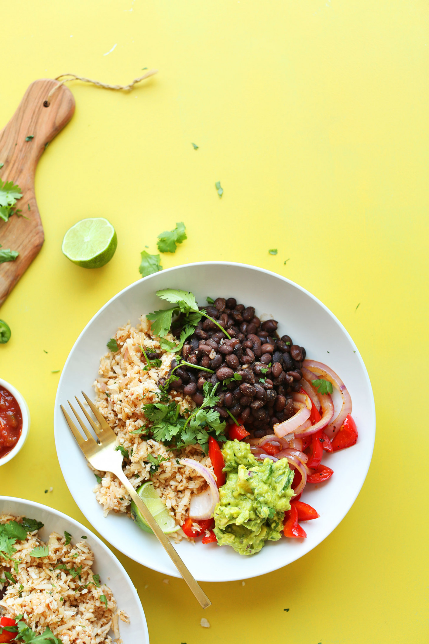 Cauliflower Rice Burrito Bowl - recipes vegetarian bowls