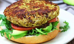 Cauliflower Veggie Burger [Vegan] – One Green Planet – Recipe Vegetarian Hamburger