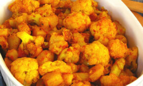 Cauliflower With Tomatoes Cooked In Mustard Oil & Ginger – Recipes Pure Vegetarian