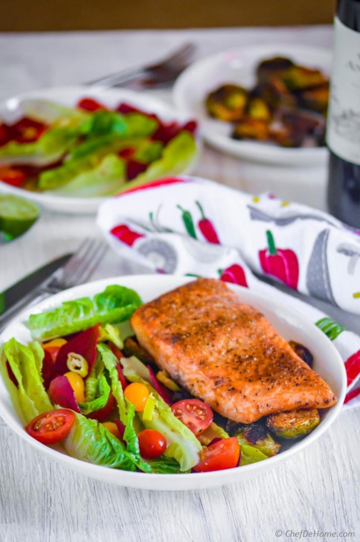 Cedar Plank Salmon with Beets Salad Recipe | ChefDeHome