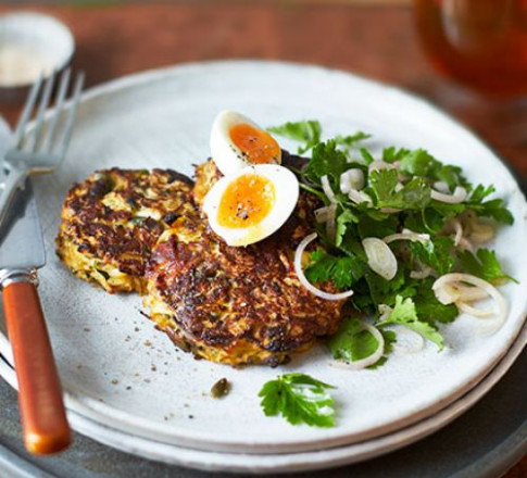 Celeriac & comté fritters recipe | BBC Good Food - xmas dinner starters recipes