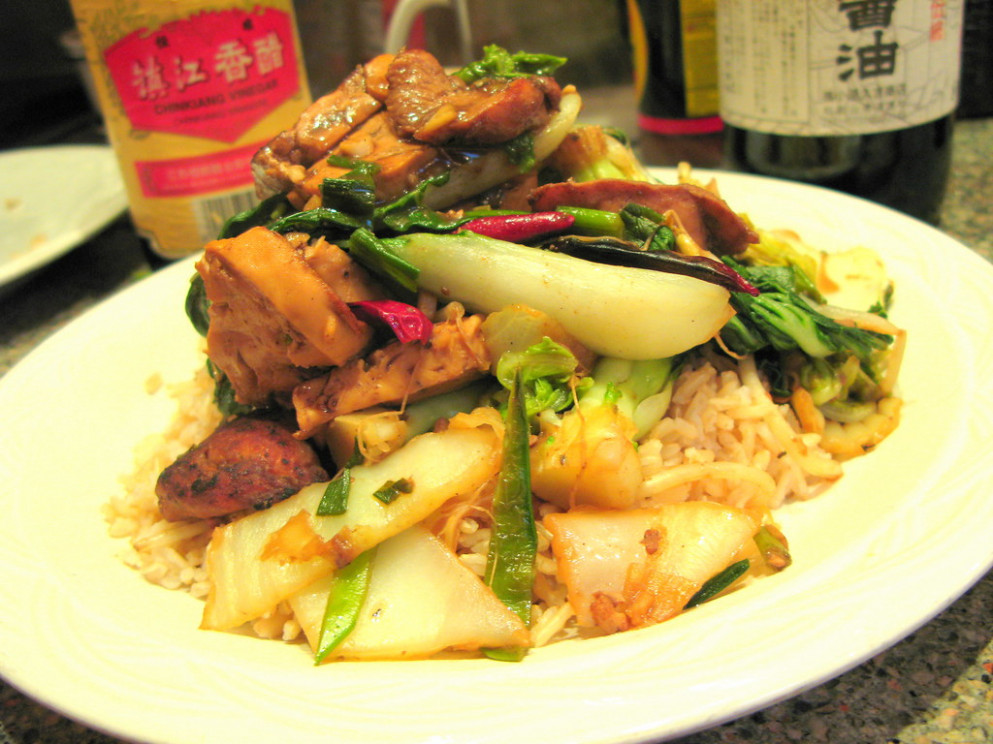 Charlie Deal's Jujube Kung Pao Chicken - Recipes Vegetarian Chinese