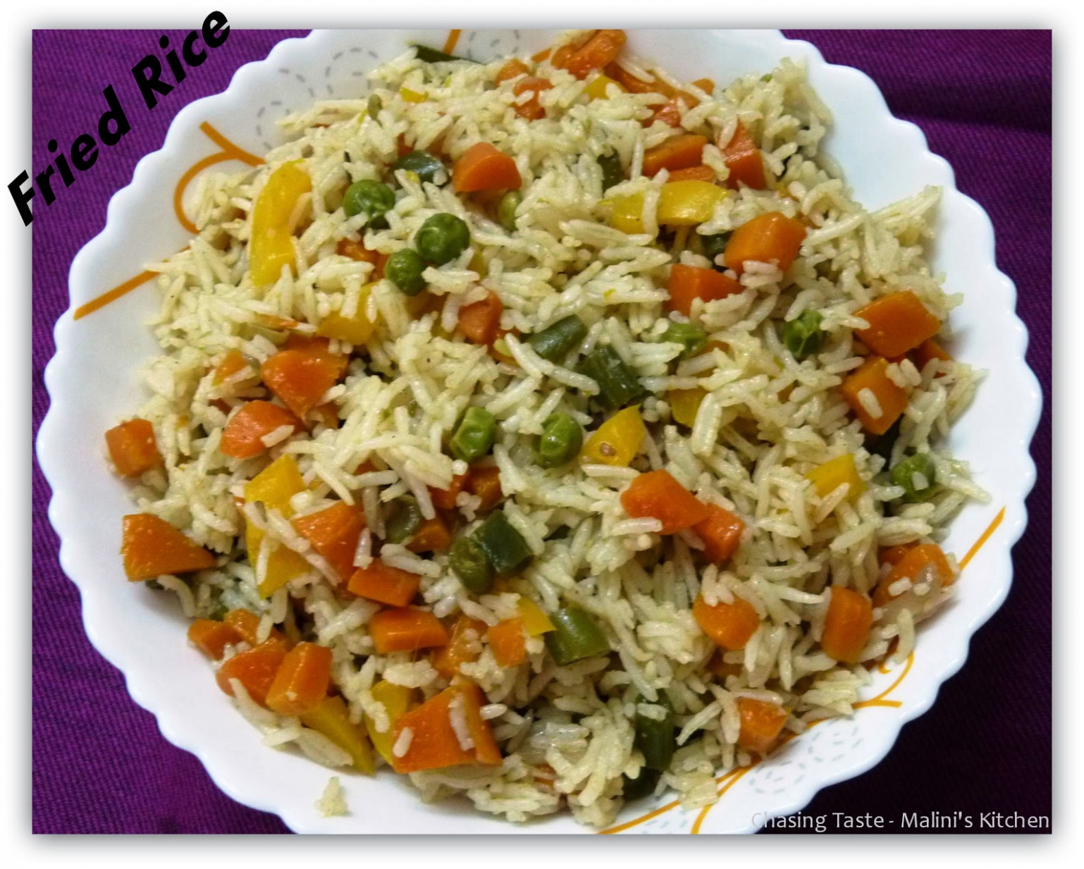 Chasing Taste: Vegetable Fried Rice Recipe - Indian Style - rice recipes vegetarian