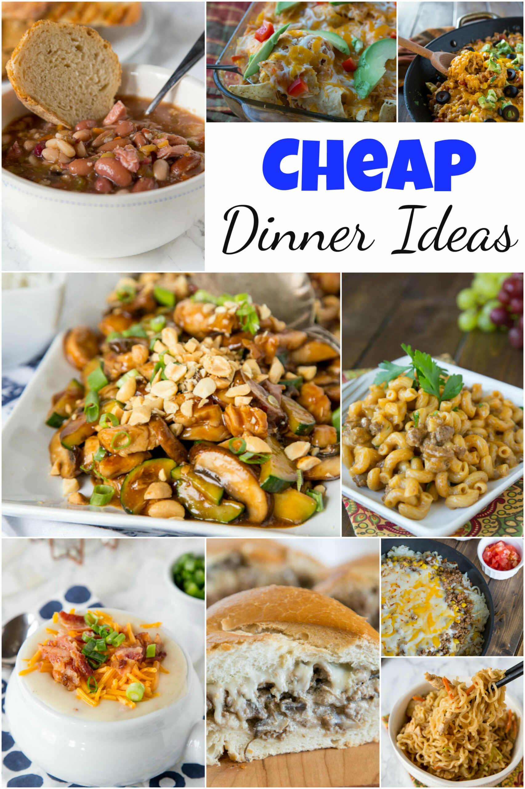 Cheap Dinner Ideas - Dinners, Dishes, and Desserts - dinner recipes on a budget