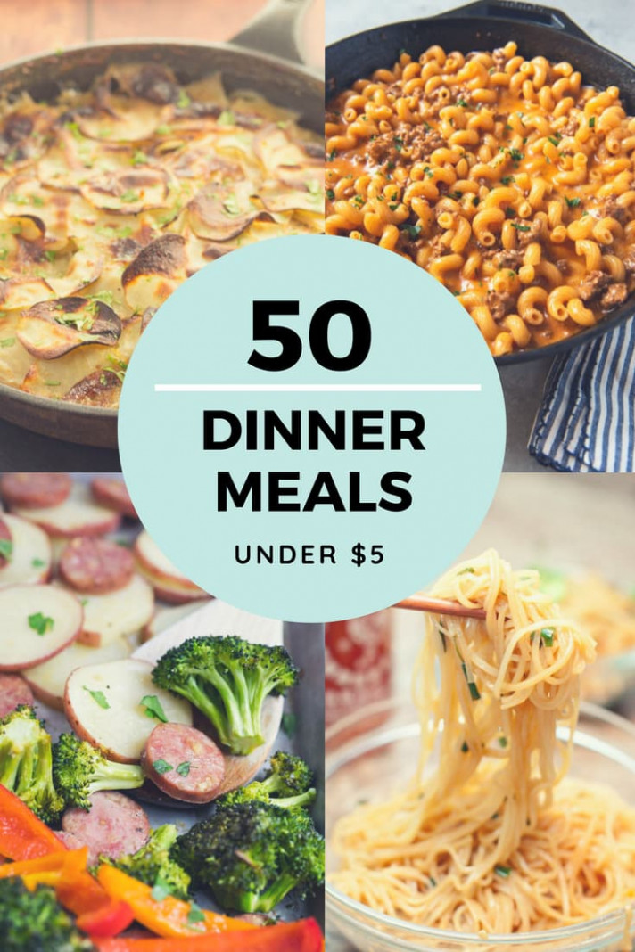 Cheap Dinner Recipes For $5 Or Less - More Than 50 Ideas! - Recipes Easy Dinner For Two