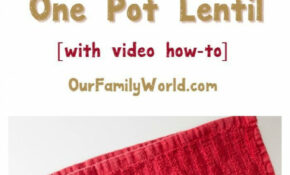 Cheap & Easy Vegetarian Recipe: One Pot Lentil With Curry ..