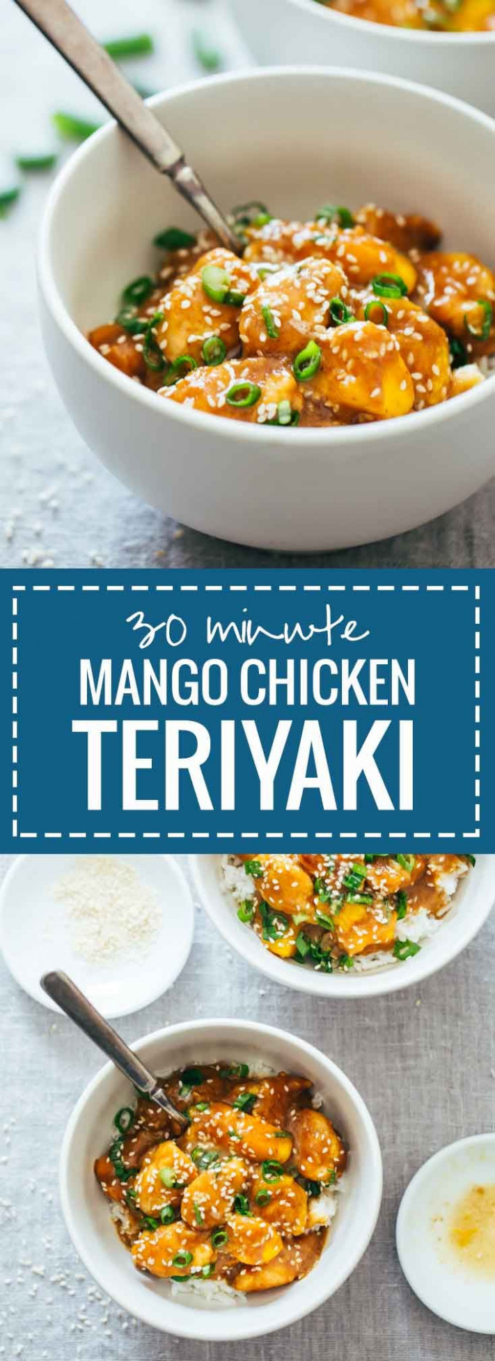 Check out 30-Minute Sesame Mango Chicken Teriyaki. It's so ..