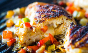 Cheese And Pepper Stuffed Grilled Chicken Breasts – Chicken Recipes In Tamil