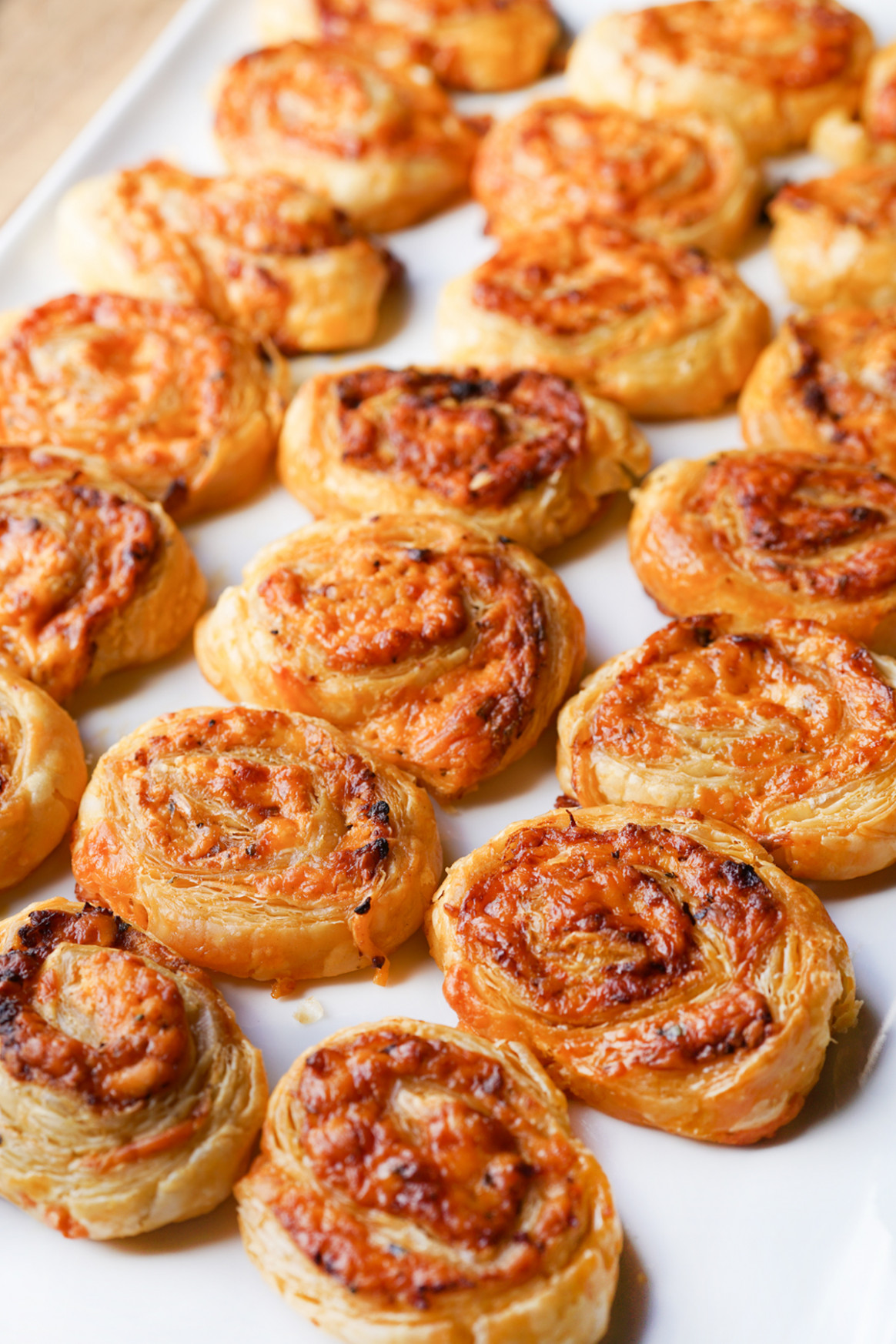 Cheese and Sundried Tomato Pinwheels - quick and easy party finger food recipes