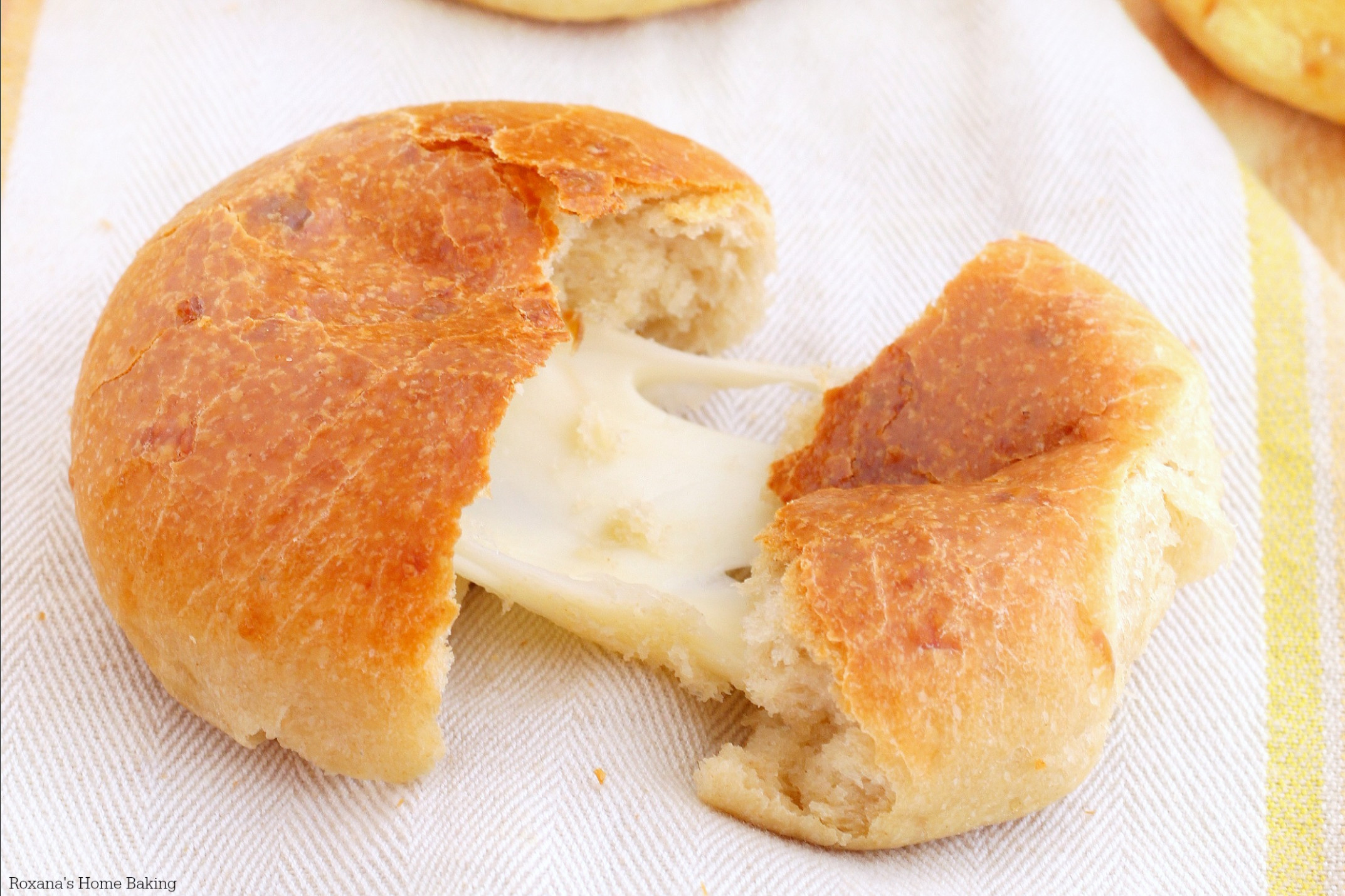 Cheese Filled Three Cheese Dinner Rolls Recipe - Recipes For Dinner Rolls