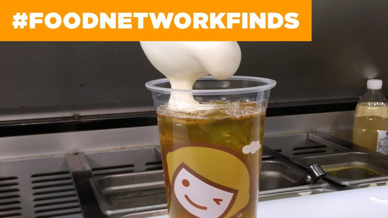 Cheese Tea: The Latest Food Trend | Food Network - Canada Weekly - Recipes The Kitchen Food Network