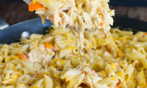 Cheesy Chicken Pasta Skillet Recipe – Inside BruCrew Life – Recipes Canned Chicken
