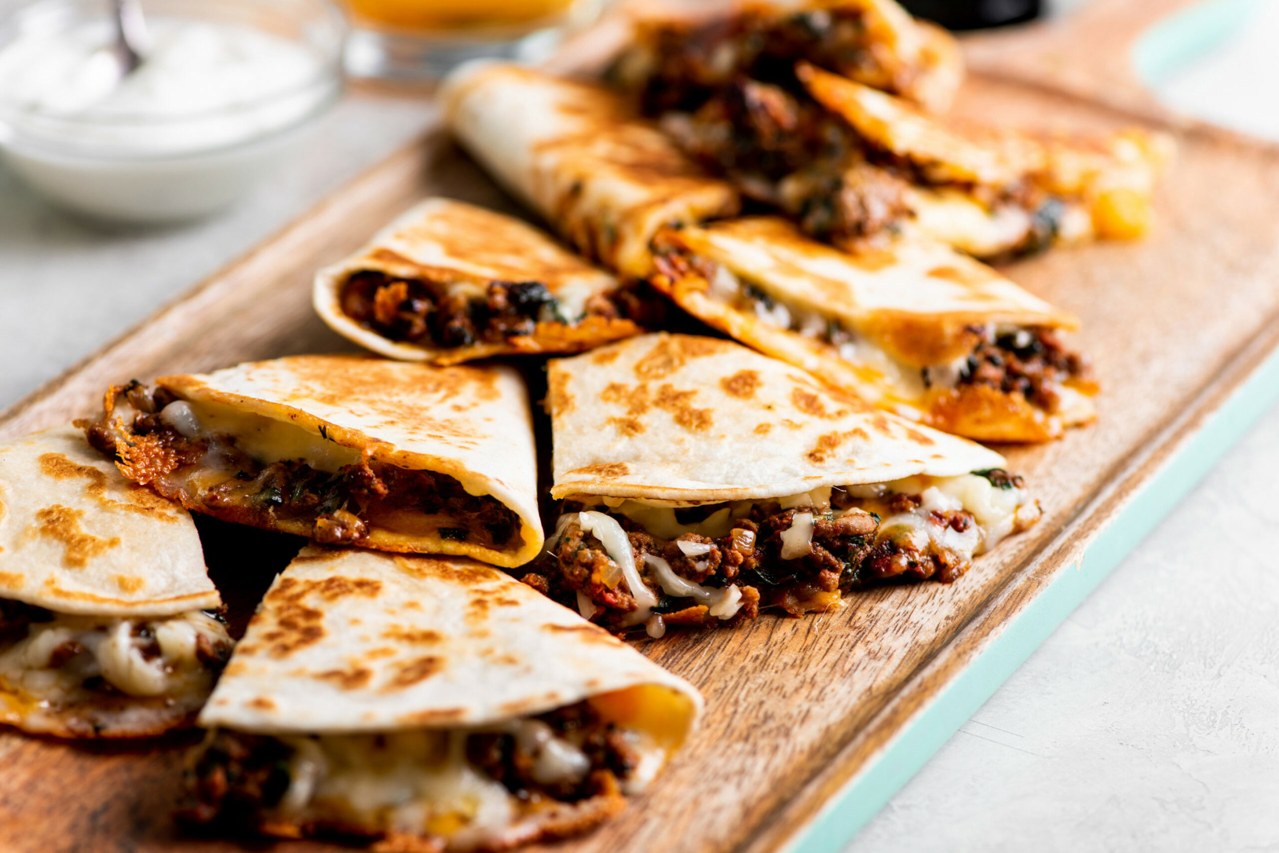 Cheesy Ground Beef Quesadillas Recipe — The Mom 15 - Dinner Recipes With Ground Beef
