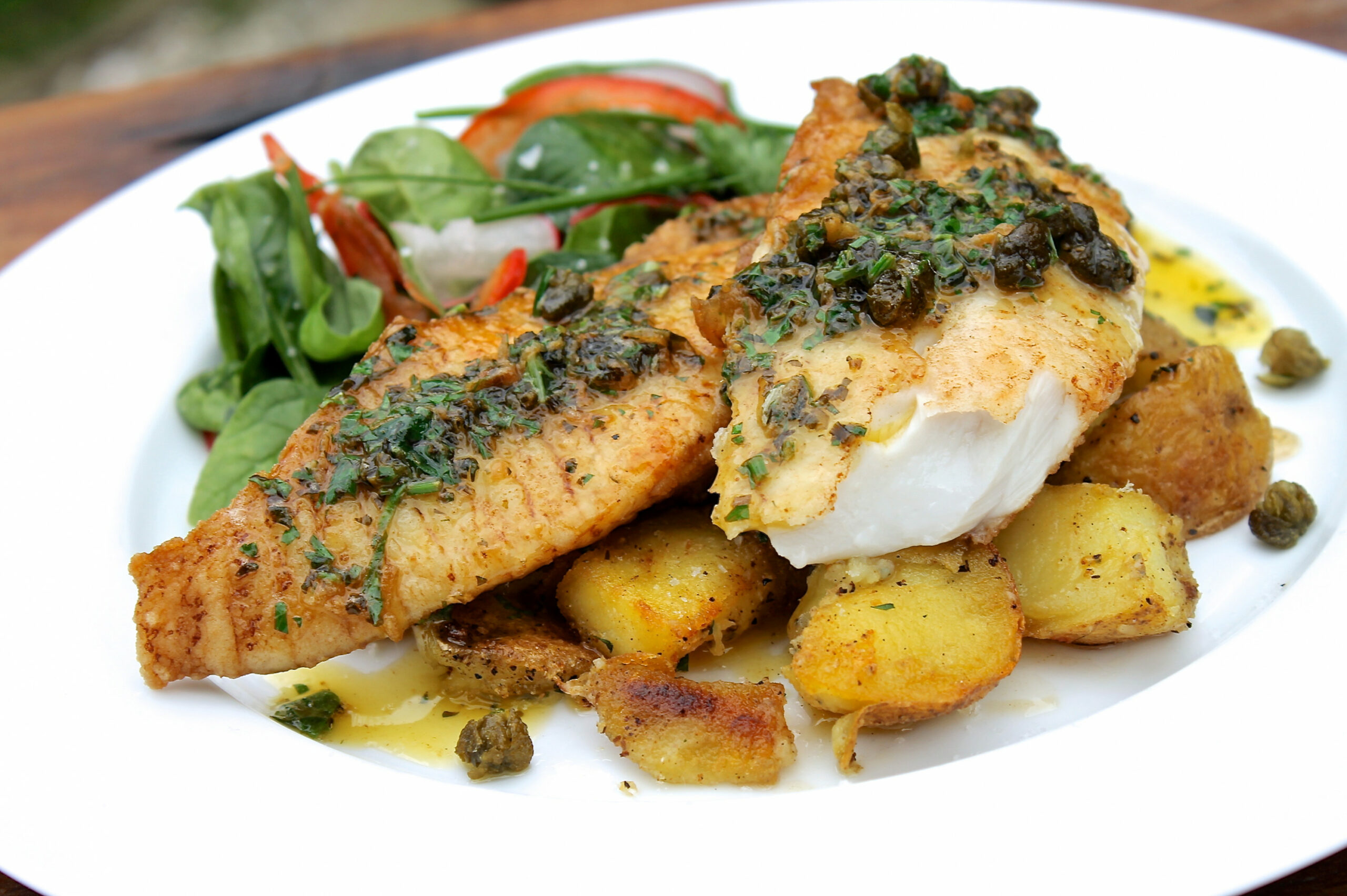 ChelseaWinter.co.nz Pan fried fish with lemon & herb butter ..