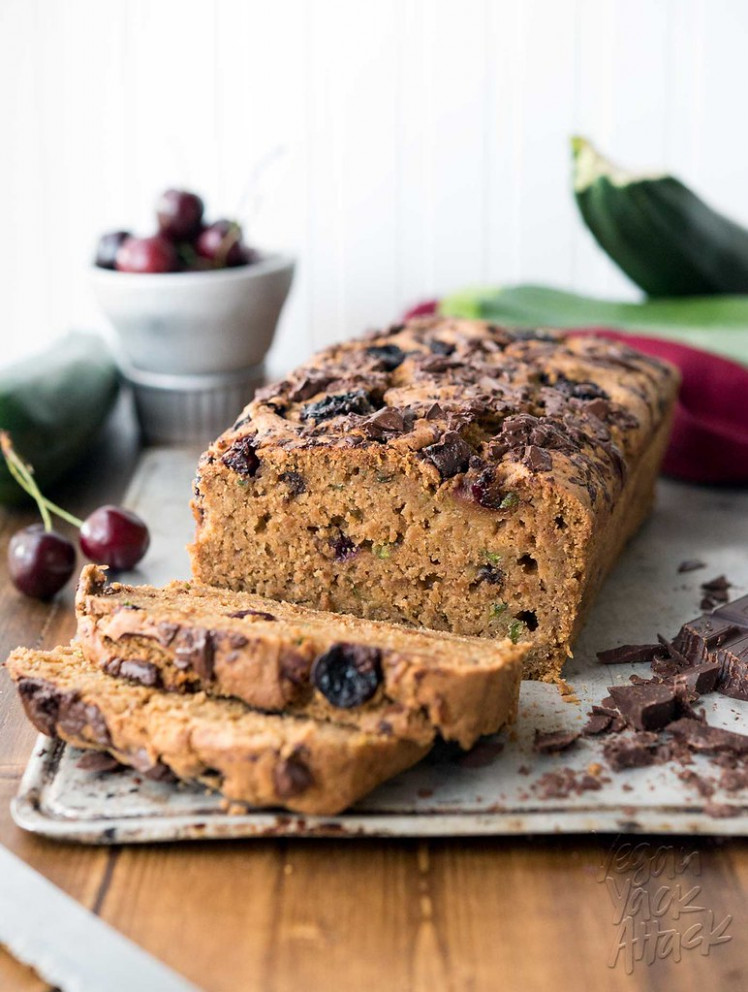 Cherry Chocolate Zucchini Bread - recipes whole food plant based