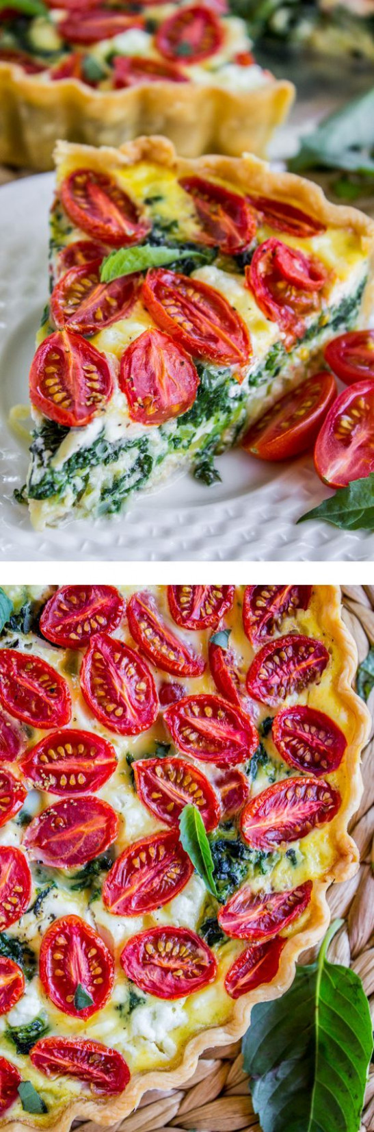 Cherry Tomato, Leek, and Spinach Quiche from The Food ..