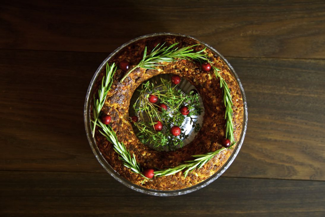Chestnut and Cashew Vegan Christmas Roast from Thinly Spread - christmas recipes dinner