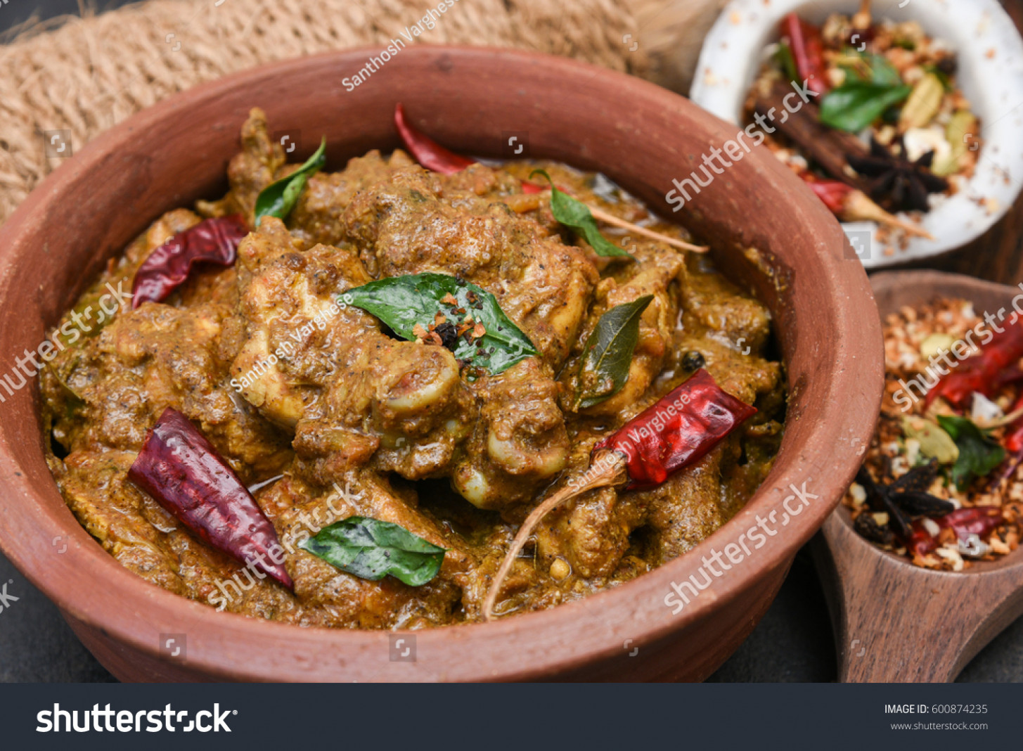 Chettinad Chicken Curry Hot Spicy Dish Stock Photo (Edit Now ..