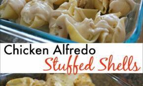 Chicken Alfredo Stuffed Shells – Mess For Less – Chicken Recipes Cheap