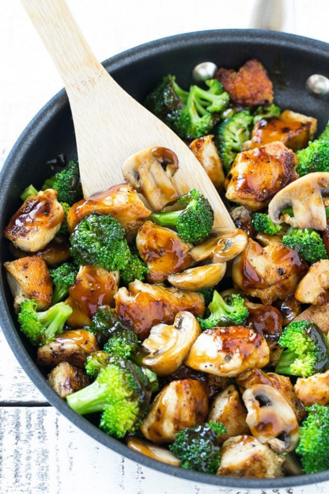 Chicken and Broccoli Stir Fry - Dinner at the Zoo - healthy chicken and mushroom recipes