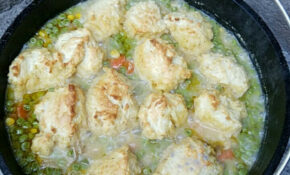 Chicken And Dumplings, First Cook In My New Lodge 10″ Dutch ..