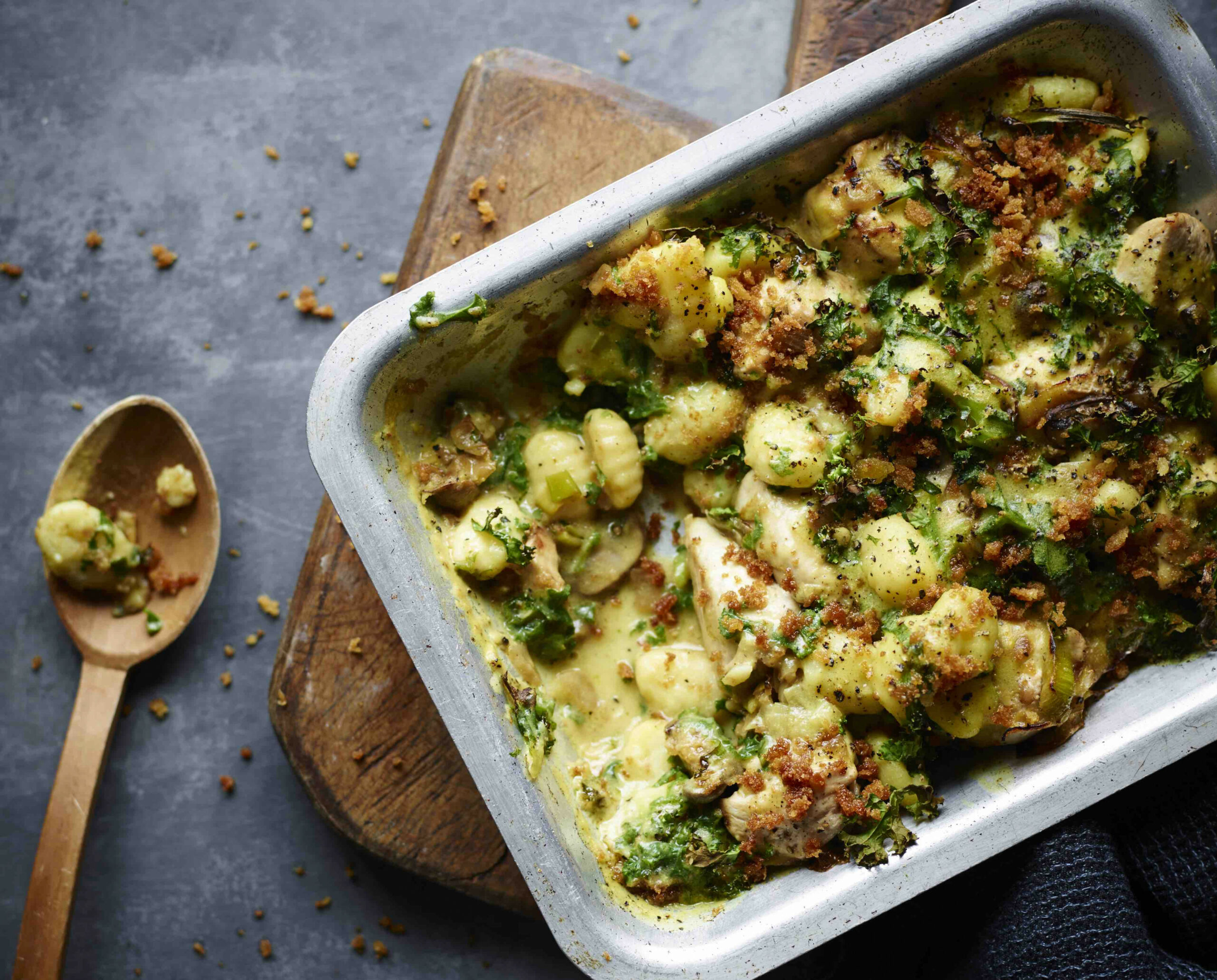 Chicken and leek gnocchi bake / The Body Coach - chicken recipes joe wicks