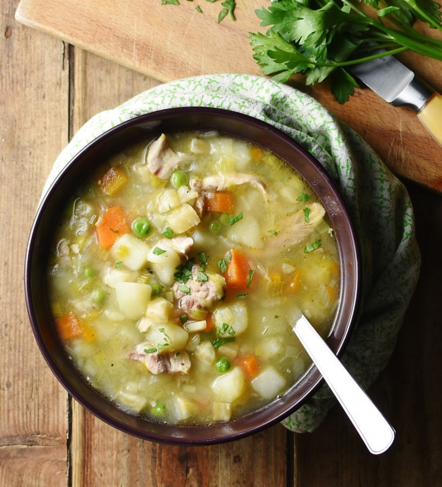 Chicken And Potato Vegetable Soup - Chicken Recipes Using Chicken Stock